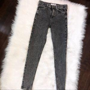 Topshop grey acid wash jeans
